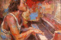 Piano Man by Emmanuelle Nim