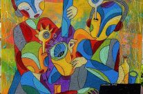 Three Jazz Musicians by Monnar Baldemor
