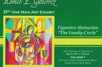 Romeo E. Gutierrez – 37th One-Man Exhibit.  May 6-15, 2017